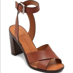 DV Block Heel Leather Sandals